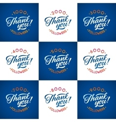 thanks design template SET for network vector image