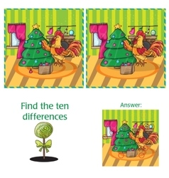 Cartoon of finding differences vector