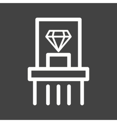 Diamond exhibit vector
