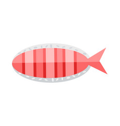 Salmon fish isolated on white organic natural food vector