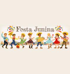 Festa junina brazil june festival folklore holiday vector