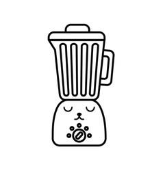Kawaii blender cartoon vector