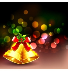 Jingle bell in christmas background vector
