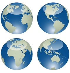 Glossy globes vector
