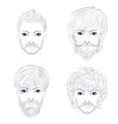 Male fashion hairstyles vector