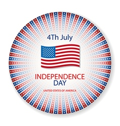 Independence day american signs hanging with chain vector