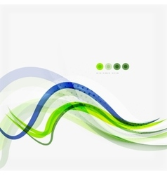Green and blue lines background vector