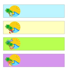 Summer holidays banner set vector