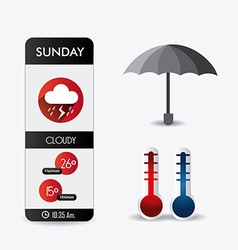 Weather mobile app design vector