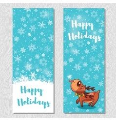 Happy holidays design vertical background set with vector