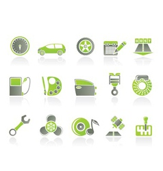 car and motoring icons vector image