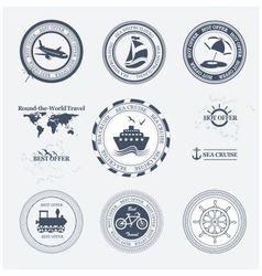 Labels tourism vector