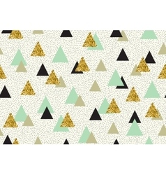 Seamless pattern with color triangles vector