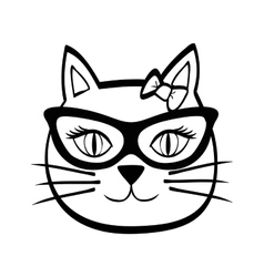 Cat design animal concept flat vector
