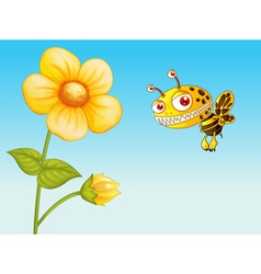 a bee vector image vector image