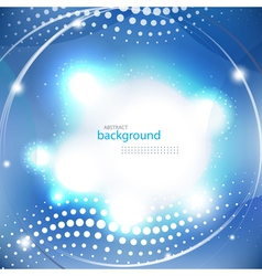 Abstract blue shiny background vector image vector image