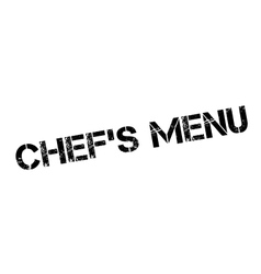 Chef menu rubber stamp vector