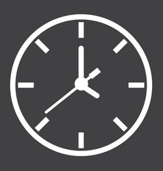 Clock line icon time and website button vector