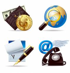 computer and web icons i vector image