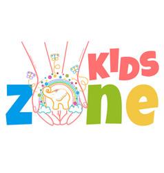 Concept of child development kids zone vector