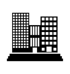 Contour buildings and city scene line sticker vector