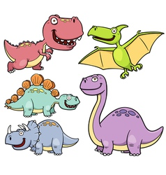 Dinosaur set vector image vector image