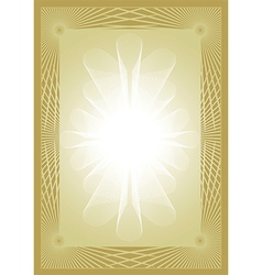 Diploma certificate gold background vector