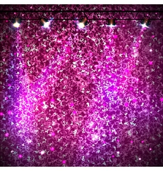 Disco abstract pink neon background vector image vector image