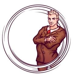 elegant man vector image