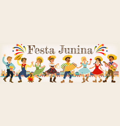festa junina brazil june festival folklore holiday vector image