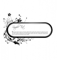 floral frame with text vector image vector image