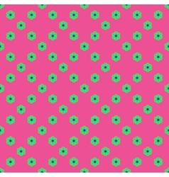 Flowers geometric seamless pattern 3806 vector image vector image