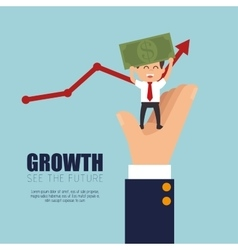 Growth business money project graphic vector