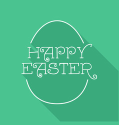 Happy easter egg quote greeting card design vector