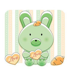 happy love bunny vector image vector image