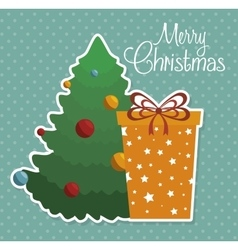 happy merry christmas icon vector image