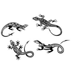Lizard reptiles vector image vector image