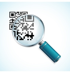 magnifier and qr code vector image vector image