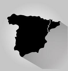 Map spain catalonia separation democracy crisis vector