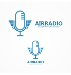 microphone logo vector image