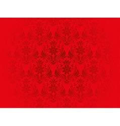 Red vintage floral background vector