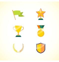 Set of achievement badges vector