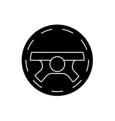 steering wheel - driving icon vector image