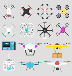 Vehicle drone quadcopter air vector