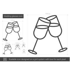 wedding glasses line icon vector image
