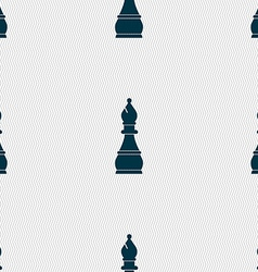 Chess bishop sign seamless pattern with geometric vector