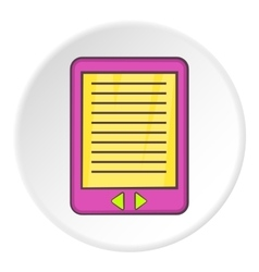 E-book icon cartoon style vector
