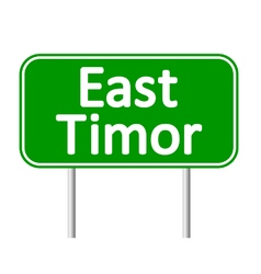 East timor road sign vector