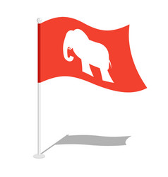 Republican elephant flag national flag of vector