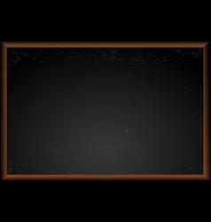 Empty black school chalkboard vector